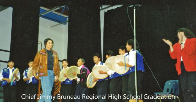 Ovide Mecredi, Grand Chief of Assembly of First Nations spoke to the graduating class of 1994
